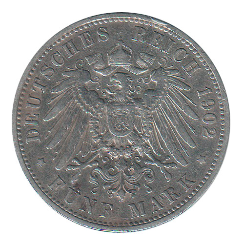 Germania Prussia 5 Marks 1902