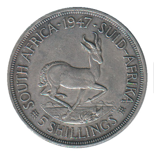 Sud Africa 5 Shillings 1947